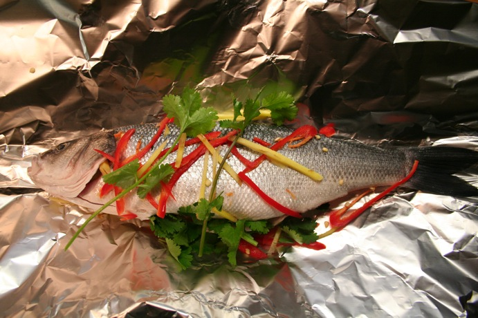 Sea Bass preparation