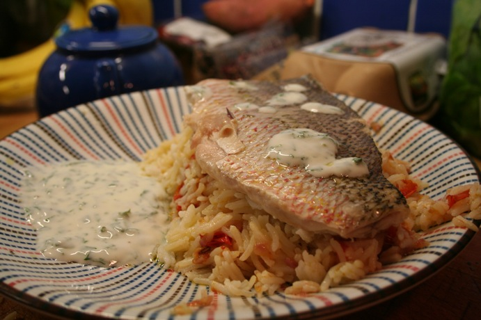 Red Snapper with Spicy Couscous
