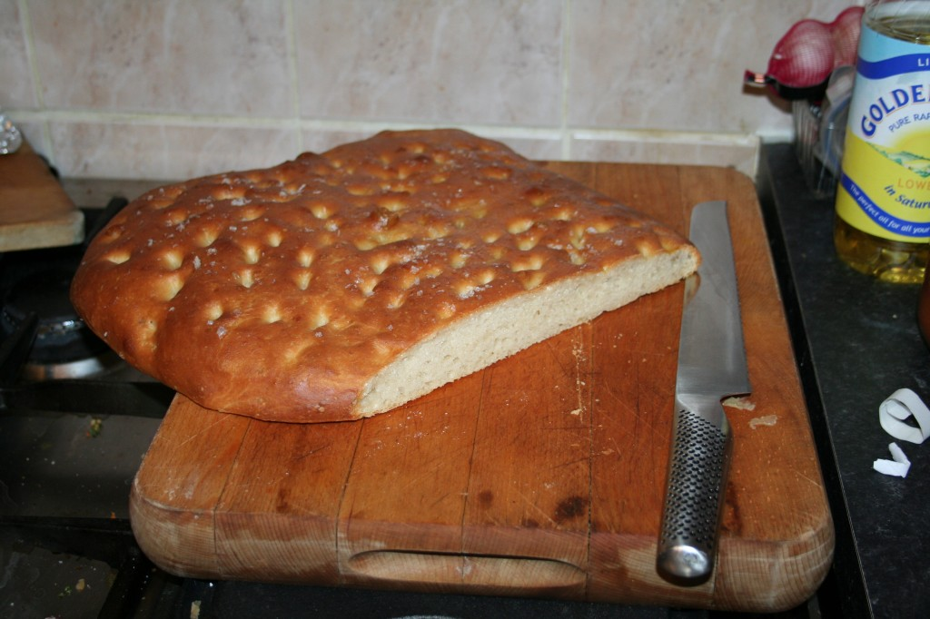 Picture of a loaf of focaccia