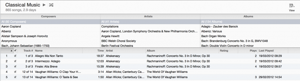 iTunes 11 Classical Music