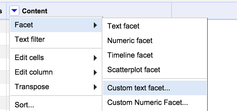 Custom Text Filter