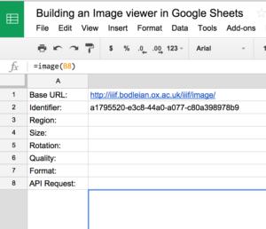 Illustration of template spreadsheet